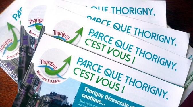 Lettre Infos # 1.Thorigny Démocrate et Solidaire, continue