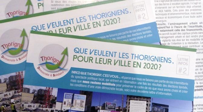 Lettre Infos # 2. Que veulent les Thorigniens,  pour leur ville en 2020?